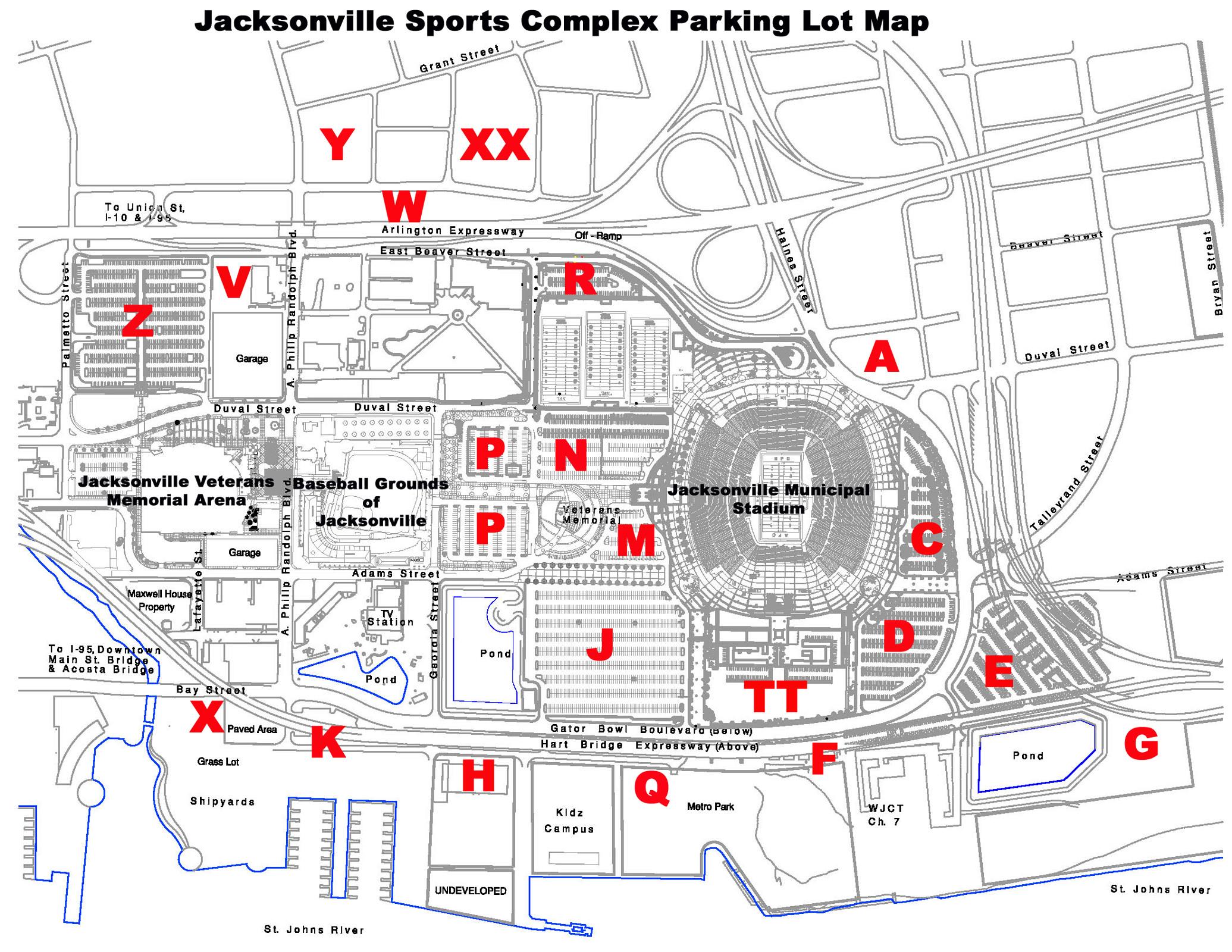 Jacksonville Sharks Parking