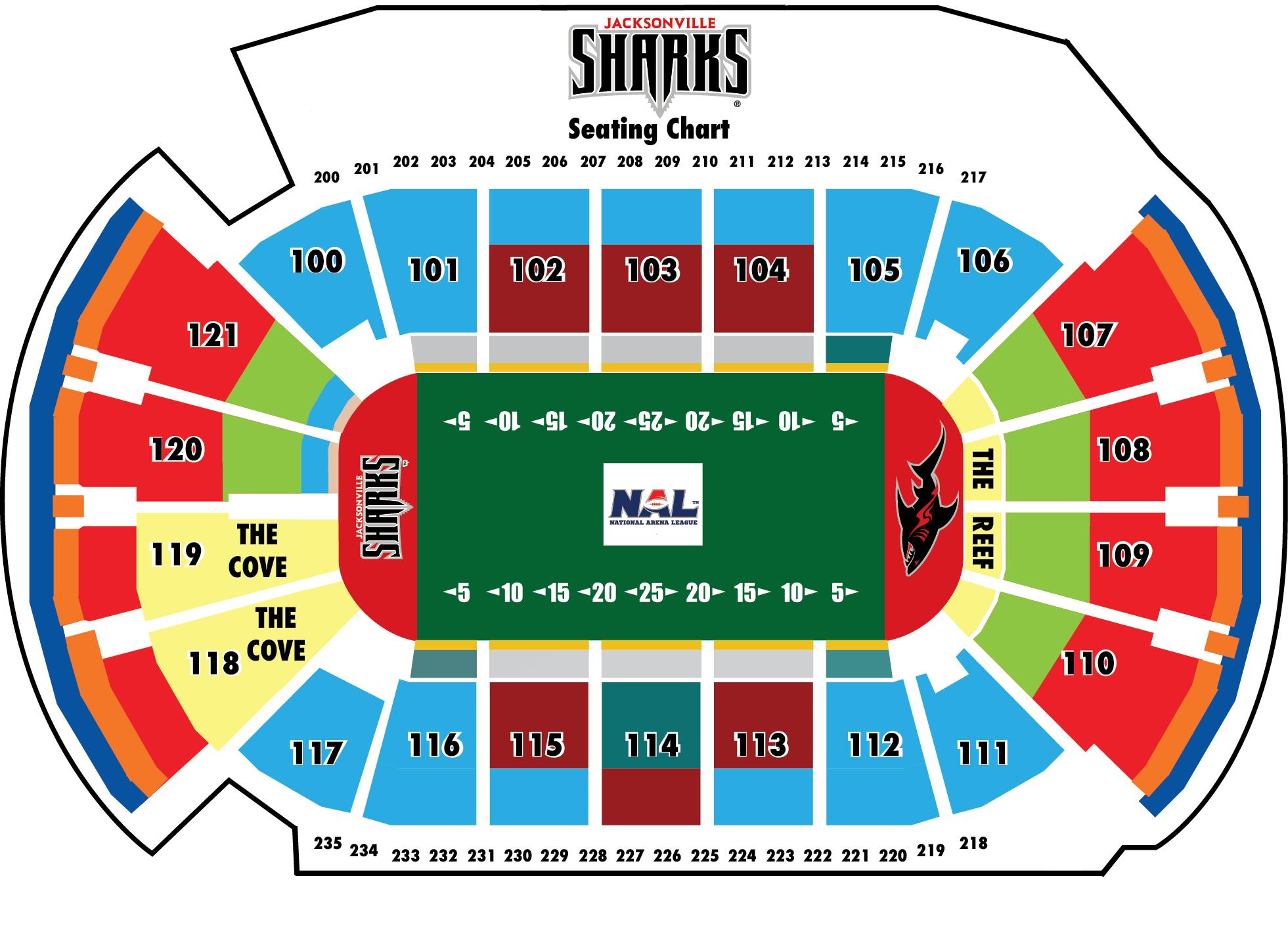 Jacksonville Sharks Seating Chart