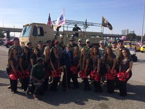<p> November 11, 2016, Veterans Day Parade, - The Sharks and the Attack Dance Team had the honor to be apart of the 2016 Veterans Day Parade.</p>