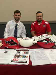 <p> 	February 4, 2020, UNF Career Fair - The Jacksonville Sharks spent the afternoon attending the University of North Florida Career Fair. </p>