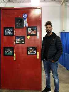 """<p> November 15, 2019, Jacksonville Sharks Photographer Wins First Place - Sharks Photographer, Cassandra Shank, had some of her photography of the Sharks showcased in the Duval County Fair, and her solo shot of Devin Wilson won """"Best in Show.""""</p>"""
