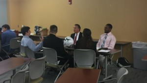 February 14, 2019, UNF Mock Interviews - The Sharks spent some time at the University of North Florida this week doing mock interviews for the Sports Management Department. Building the future of the sports industry, one student at a time. Jacksonville Sharks National Arena League