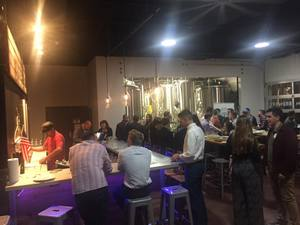 <p> November 15, 2018, Jacksonville University's GOLD Phin Hops & Headshots Networking event - The Sharks and JU Dolphins enjoyed a night out at the GOLD Phin Hops & Headshots Netwoeking event at the Atlantic Beach Brewing Company.</p>