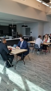 <p> March 10, 2020, Flagler Mock Interviews - Some of our Sharks members held mock interviews at Flagler College to support the schools Sports Management program.</p>