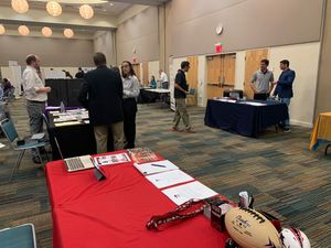 <p> March 3, 2020, UNF Communications Career Fair - The Sharks were in attendance at the University of North Florida Career Fair to announce the available internship positions for the summer.</p>