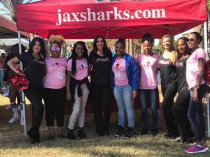 <p> November 4, 2017, Buddy Walk - The Jacksonville Sharks and Attack Dance Team were at the Seawalk Pavilion 2017 DSAJ Annual Buddy Walk</p>