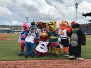 <p> August 6, 2017, Southpaw's Birthday - Chum and other mascots get together for Southpaw&#39;s birthday!</p>
