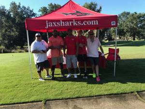 <p> September 11, 2018, Action Sports JAX Dream Charity Golf Tournament - The Sharks competed in the Celebrity Golf Tournament at King and Bear Golf Course in World Golf Village.</p>