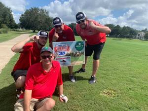 <p> 	September 16, 2019 Jax Sharks Participate in Action Sports Jax Dream 18 Golf Tournamnet - QB Jonathan Bane and the Sharks Staff represented the Jacksonville Sharks at the Dream 18 Tournament. Hole 13 is officially sponsored by the 2019 NAL Champion Jacksonville Sharks.</p> <p> 	 </p> <p> 	 </p>