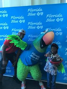 October 20, 2018, Florida Blue Health Fair - Ja'Juan Story and the Sharks attended the Florida Blue Health Fair at St. Johns town Center.