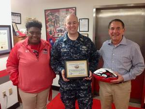 <p> February 13, 2018, Sharks and Soldiers - Chief Lewis of the US Navy teamed up to Donate to Sharks and Soliders for the 2018 Kings Bay Silver & Gold Auction.</p>