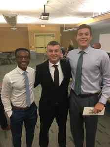<p> 	July 10, 2019 Sharks at UNF sports managment class - The Jacksonville Sharks attended at sports managment class at the University of North Florida to give their take on working in the sports industry.</p>