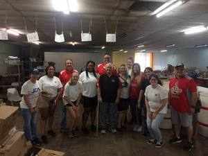 <p> September 15, 2017, Salvation Army Post-Storm Recovery - The Sharks helped Salvation Army of Northeast Florida following Hurricane Irma.</p>