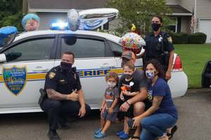 <p>September 19, 2020 - The Sharks celebrated the 4th birthday of cancer survior & Shark fan branch.</p>