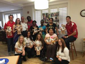 <p> July 18, 2016, Ronald McDonald House -Sharks Players and members of the Attack Dance Team visited the Ronald McDonald House for the Caden Project.</p>