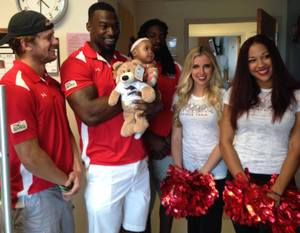 <p> August 9, 2016, Brooks Rehab Center -The Attack Dance Team and the Jacksonville Sharks Players visited Brooks Rehabilitation Center for the Caden Project.</p>