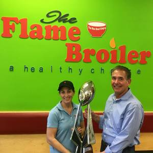 April 16, 2018, The Flame Broiler, The Sharks took the NAL Championship Trophy to The Flame Broiler in San Marco