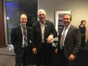 <p> 	March 8, 2020  Tom Coughlin's Jay Fund - While out supporting the Tom Coughlin Jay Fund, Sharks Vice President David Gleeson met 72' Miami Dolphins team member Larry Csonka who also was here to support this great cause of raising awareness for Childhood Cancer.</p>