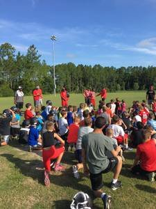 <p> August 14, 2017, Youth Football Camp - The Sharks had a blast with St. Johns Mustangs of the CDL for a youth foorball camp. </p>