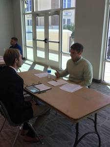 September 27, 2018, Flagler College Mock Interviews - The Sharks helped conduct mock interviews for a sports management class at Flagler College