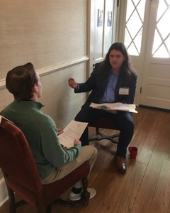 <p> March 22, 2018, Flagler College Mock Interviews - Jacksonville Sharks help sports management students at Flagler College conduct interviews.</p>