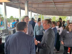 <p> 	April 17, 2019, Jacksonville Sports Networking - Sharks Vice President of Group Sales, David Gleeson, was one of the many Sports Executives that spoke today at the Jacksonville Sports Networking event powered by Teamwork Online!</p>